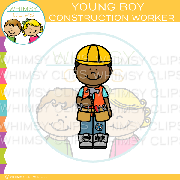 Young Boy Construction Worker Clip Art