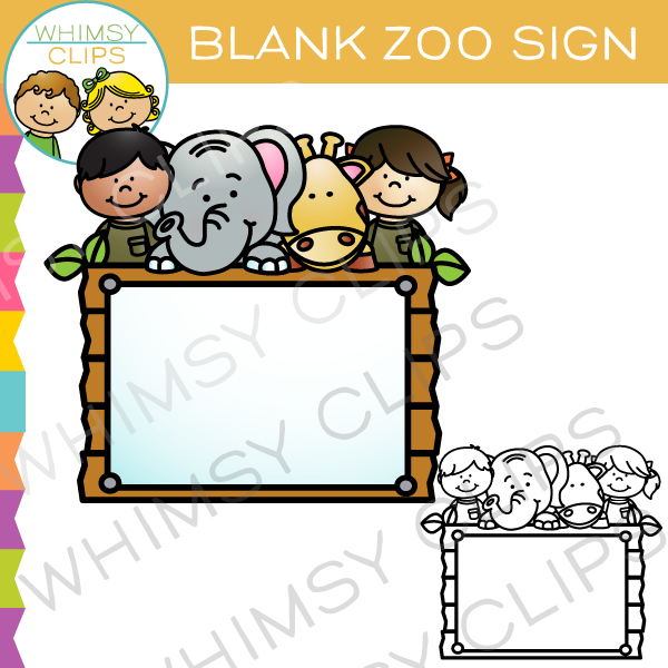 Blank Zoo Sign Clip Art