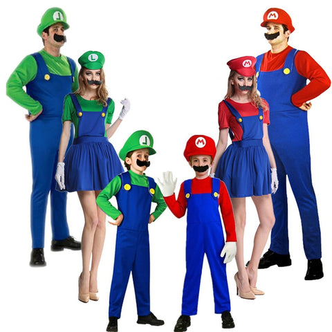 Super Mario Cosplay Costumes Children & Adults