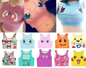 Summer Pokemon Go Crop Tops, Vest, Tank Tops, Shirt