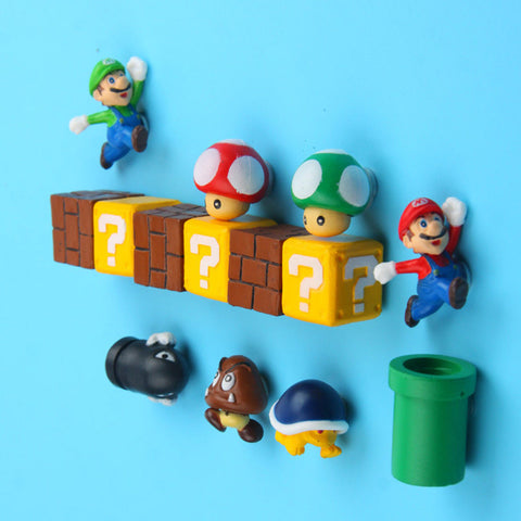 10pcs 3D Super Mario Bros Fridge Magnets Refrigerator Magnet