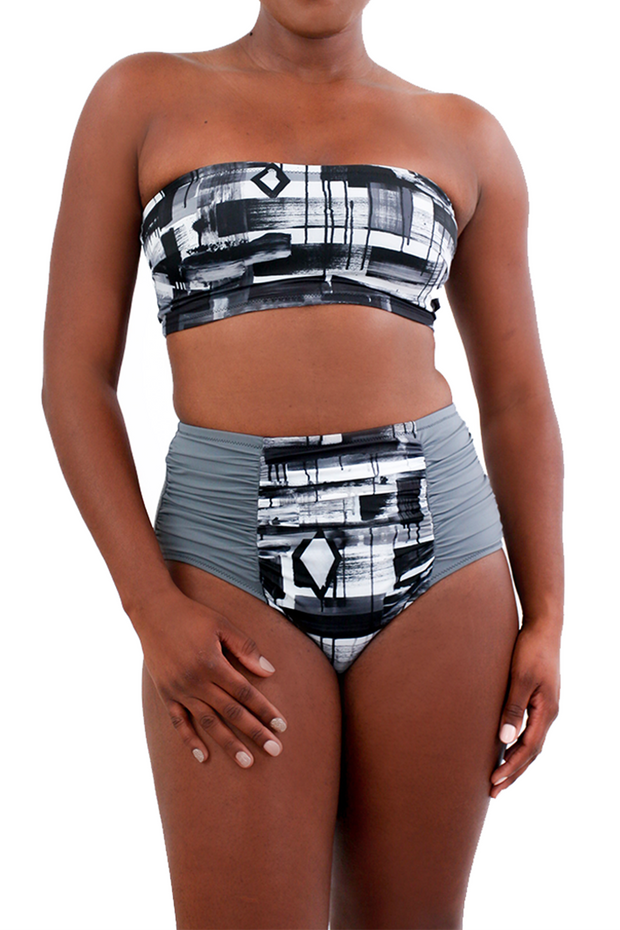 EG Tubie Top w/ Belt — Black & White Lineage