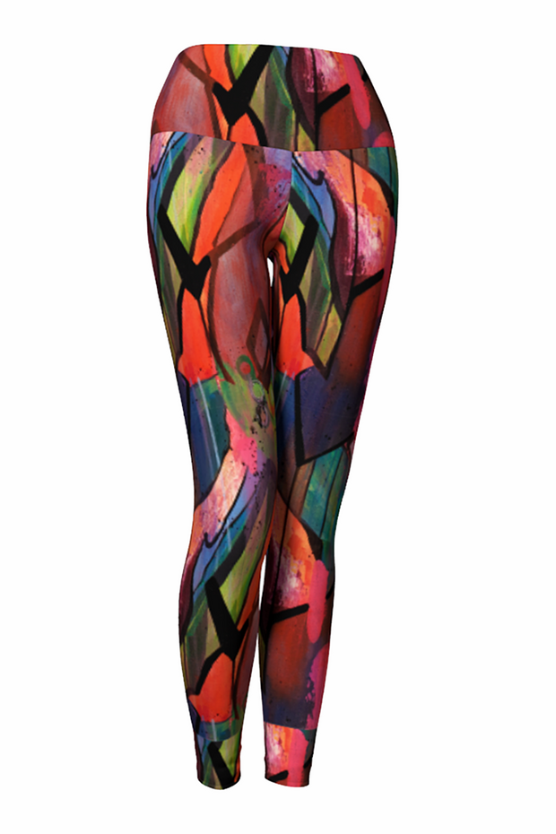 colorful patterned leggings
