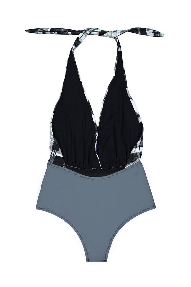 Inner Peace One-Piece — Black & White Lineage