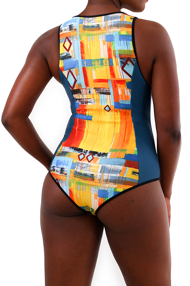 back of one piece bathing suit