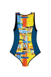 one piece swimsuit with zipper