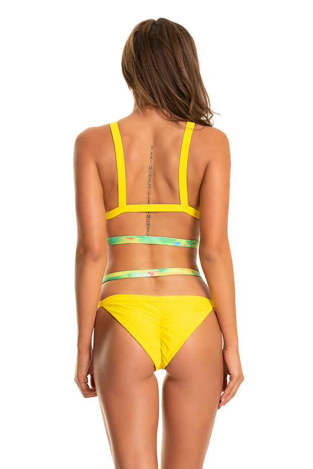 Strappy Ting Bottoms — Yellow Snakeskin/Shifts