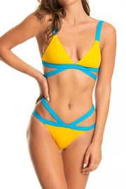 Strappy Ting Bottoms — Citron/Peacock