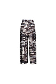 patterned wrap pant