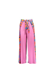 patterned pink wrap pant