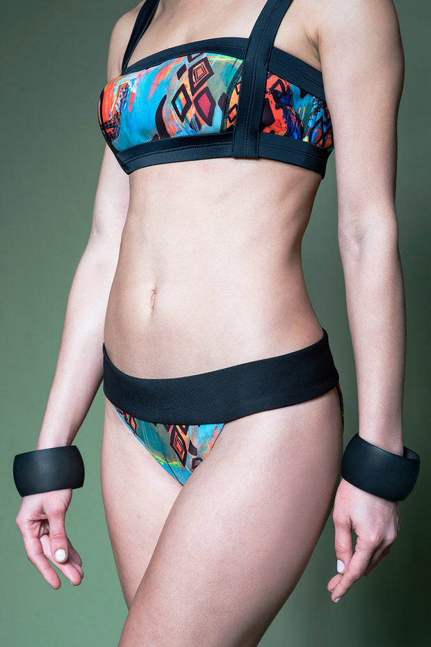 Burner Two-Way Bikini Top — Kaleidoscope of Sound