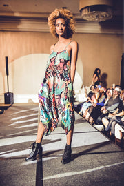 patterned jumpsuit fashion runway