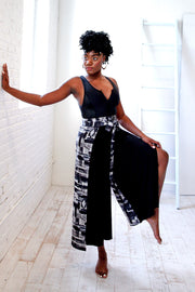 black woman wearing wrap pant
