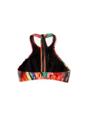 back patterned halter top