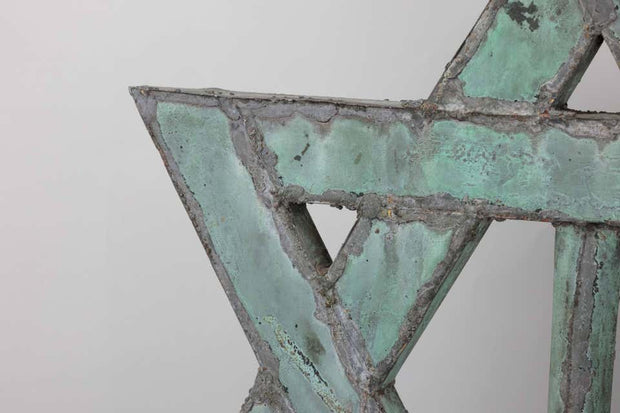 Late 19th Century American Copper 'Star of David' Synagogue Roof Top Finial