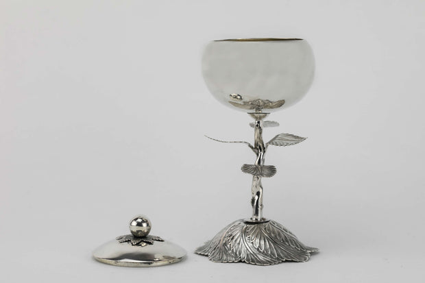 19th Century Kiddush Goblet With Lid - Menorah Galleries