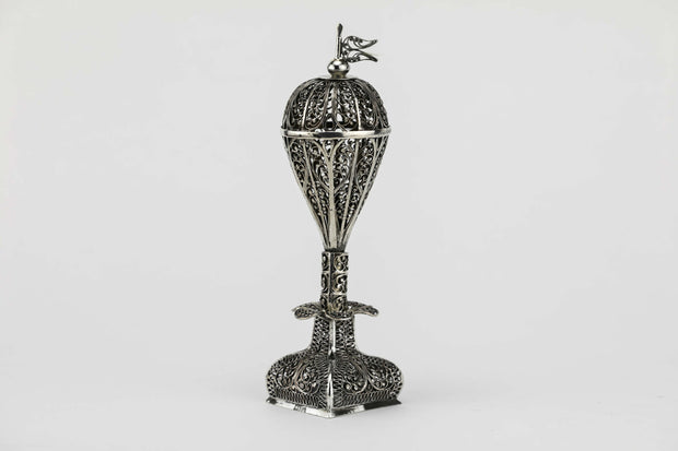 19th Century Ukrainian Silver Spice Tower - Menorah Galleries