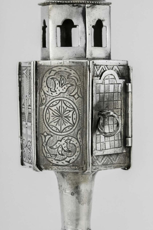Early 19th Century Polish Silver Spice Tower - Menorah Galleries