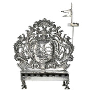 18th Century German Silver Hanukkah Lamp Menorah by Rötger 'Rudiger' Herfurth - Menorah Galleries