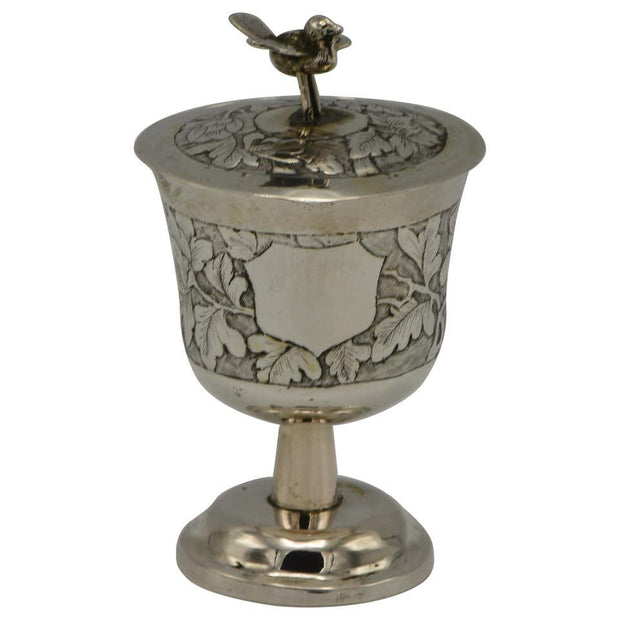Late 19th Century Chinese Silver Kiddush Goblet - Menorah Galleries