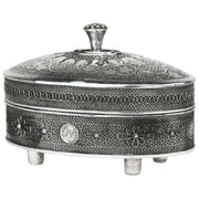 Mid-20th Century Silver Etrog Container by Bezalel School Jerusalem