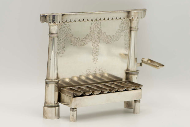 Early 19th Century German Silver Hanukkah Lamp Menorah - Menorah Galleries