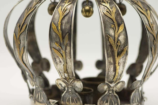 Early 20th Century Argentinian Silver and Gold Torah Crown - Menorah Galleries