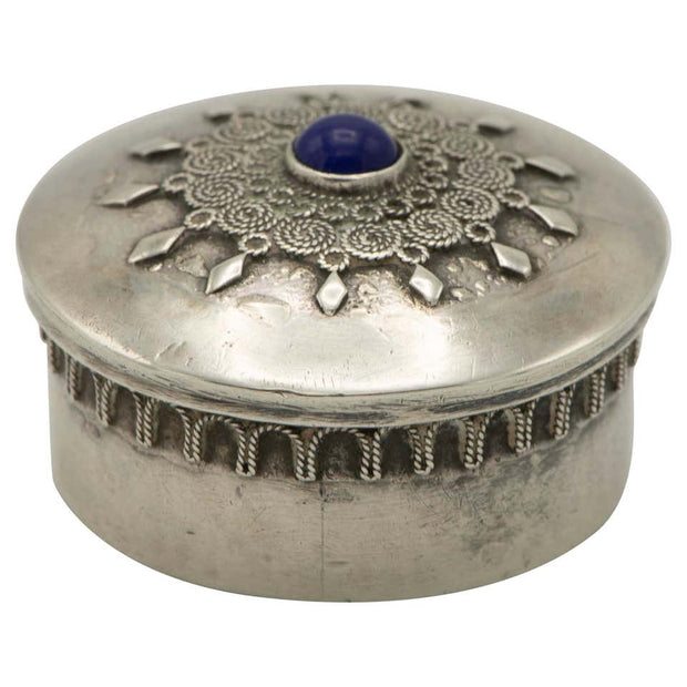 Early 20th Century Silver Pill Box by Bezalel School, Jerusalem