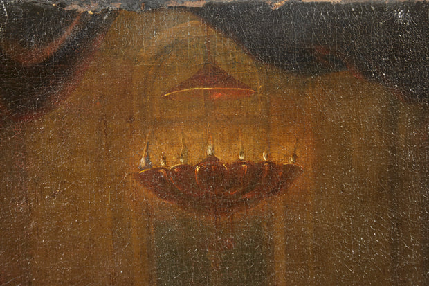 Prayers at the Synagogue, 17th Century Italy Old Master Painting - Menorah Galleries