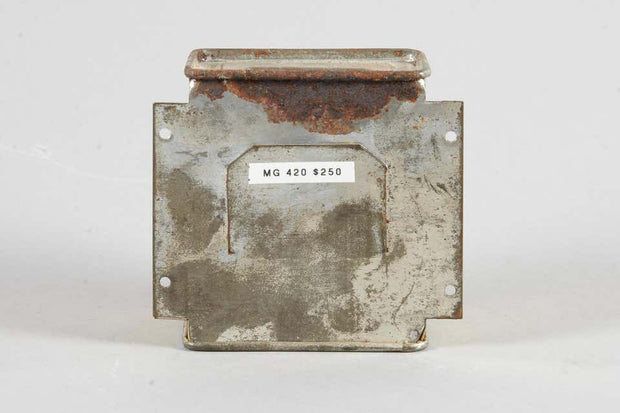 Early 20th Century Painted Tin Charity Box by Alfred Zaltzman, Jerusalem - Menorah Galleries