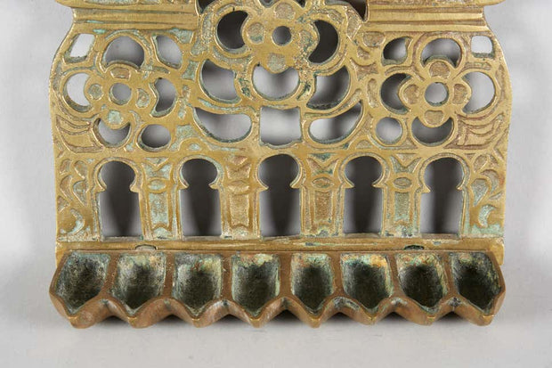 19th Century North-African Brass Hanukkah Lamp Menorah - Menorah Galleries