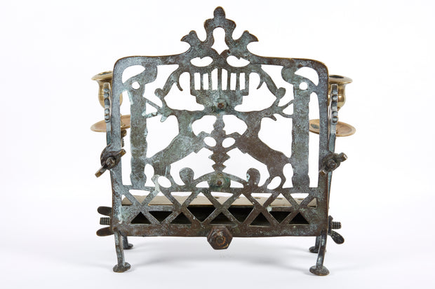 18th Century Polish Brass Hanukkah Lamp Menorah - Menorah Galleries