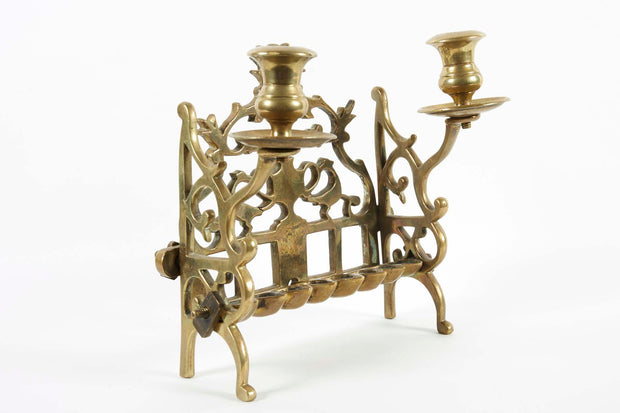 18th Century Polish Brass Hanukkah Lamp - Menorah Galleries