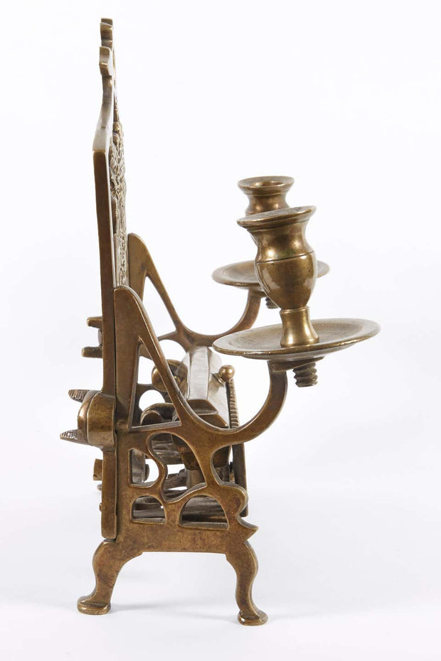 18th Century Galician Brass Hanukkah Lamp Menorah - Menorah Galleries