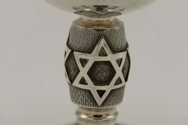 20th Century English Sterling Silver Kiddush Goblet - Menorah Galleries