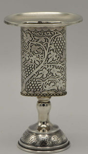 Mid-20th Century Israeli Silver Havdalah Candleholder by Bezalel School - Menorah Galleries
