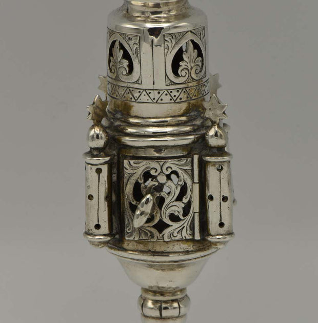 Late 19th Century German Silver Spice Tower - Menorah Galleries