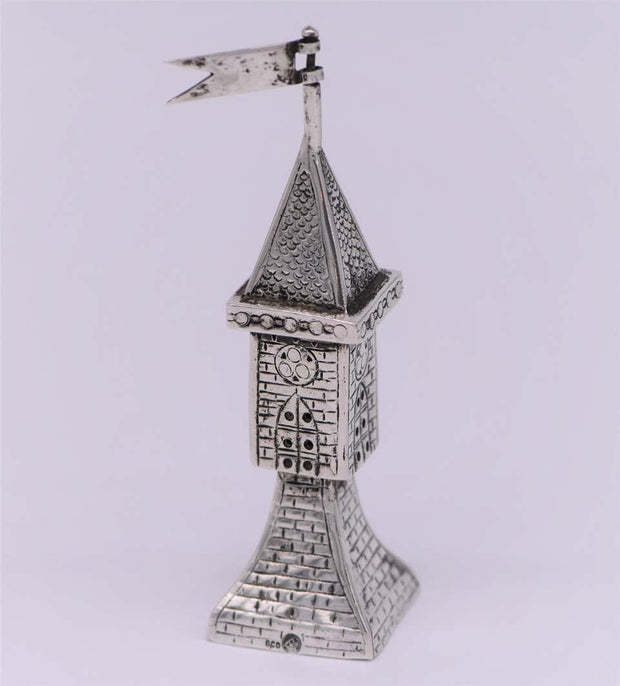 Early 20th Century German Silver Spice Tower