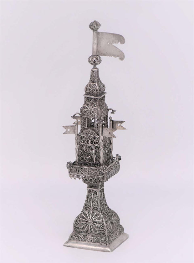 Late 18th Century Ukrainian Silver Spice Tower
