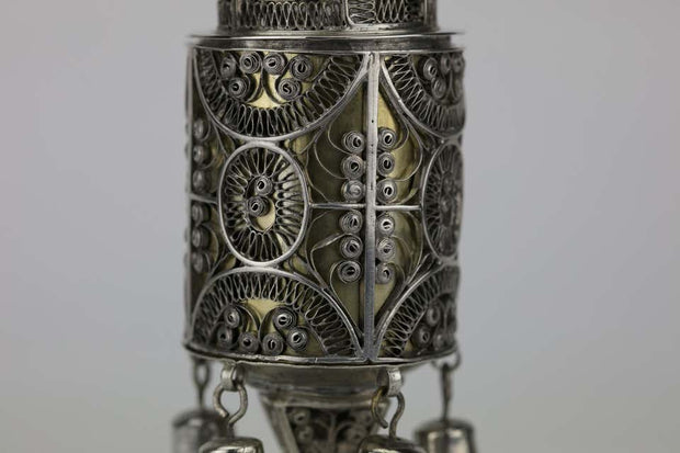 Late 19th Century Polish Silver Spice Tower
