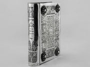Mid-20th Century Silver Book Binding by Bezalel School Jerusalem - Menorah Galleries