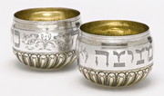 German Silver Double Cup for Circumcision, Philipp Stenglin, Augsburg, 1707-1711 - Menorah Galleries
