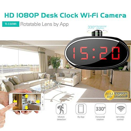 1080P HD WiFi Surveillance Security Camera | Desk Table | Motion Activated | Remotely Control Live View & Panning Camera With Audio