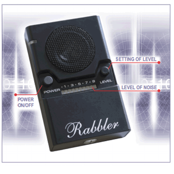 NG3000 Rabbler | Bug Audio Jammer | Noise Generator | Protect against Eavesdropping Listening Devices