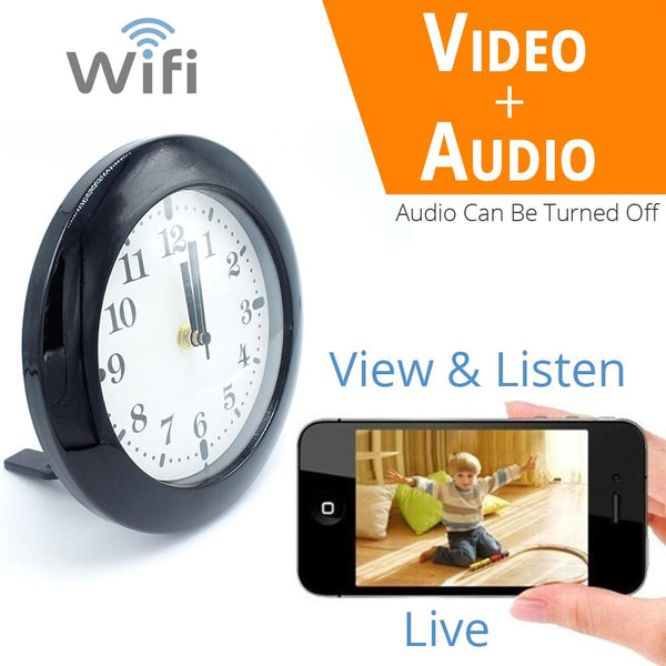 1080P HD WiFi Surveillance Camera | Security Clock Camera Audio | Motion Activated | Remote Live View