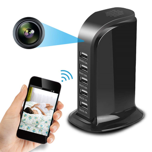 1080P HD WiFi USB Tower Charger Surveillance Camera Motion Activated Security Live View W/ Audio