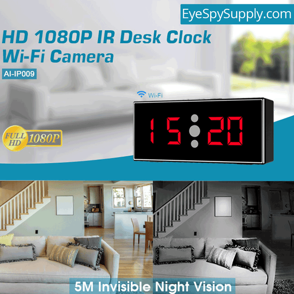 1080P HD WiFi Surveillance Security Camera Desk/Table Night Vision Motion Activated Live View & Audio