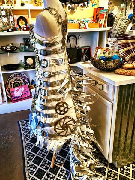 Trashion at Seconds Eco Store, Taos NM