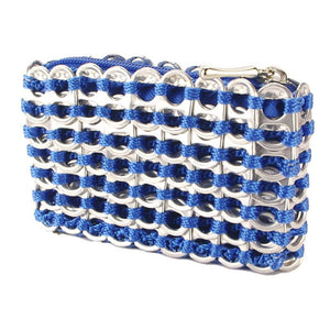 "alt=""blue coin pouch from soda pop tabs made by Escama Studio"""