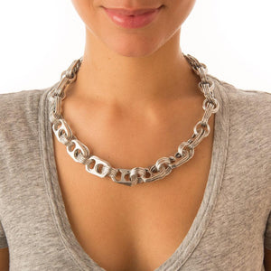 "alt=""recycled aluminum necklace by Escama Studio"""